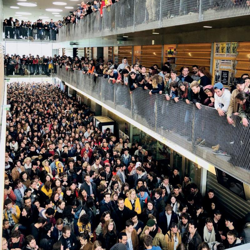 Attroupement d'un groupuscule de l'ultragauche rennaise d'inspiration paramilitaire à l'université Rennes 2